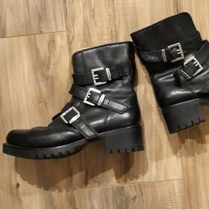 Harley Davidson Women's 3 Buckle Leather Boot. S 7